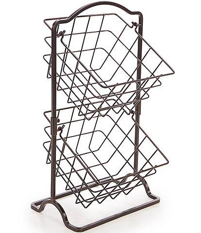 Gourmet Basics by Mikasa General Store Metal 2-Tier Hanging Storage Basket