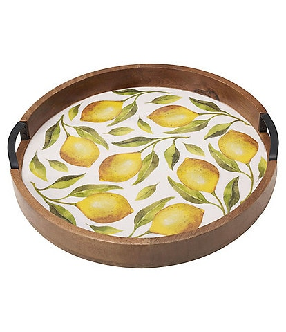 Gourmet Basics by Mikasa Round Lemons Lazy Susan Serving Tray