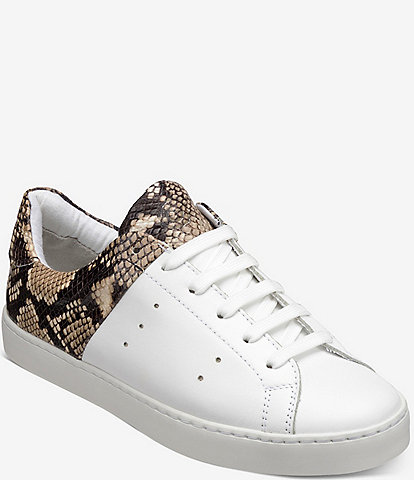 GREATS Devoe Snake Print Leather Lace-Up Sneakers