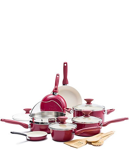 GreenPan Rio Ceramic Non-Stick 16-Piece Cookware Set
