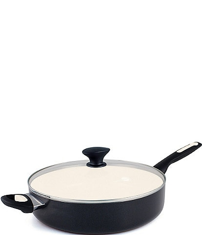 GreenPan Rio Ceramic Non-Stick 5-Qt Covered Saute Pan with Helper Handle