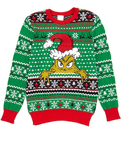 Grinch Long-Sleeve Grinching Christmas Jacquard Sweater