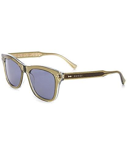 Gucci Men's Gg0910s Rectangular 53mm Sunglasses