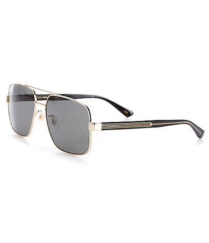 Gucci Men's Pilot 60mm Sunglasses