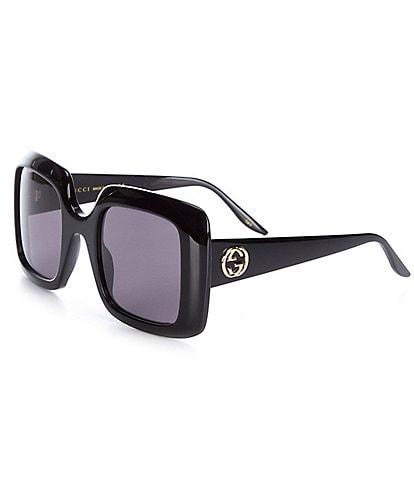 Gucci Oversized Rectangle 52mm Sunglasses