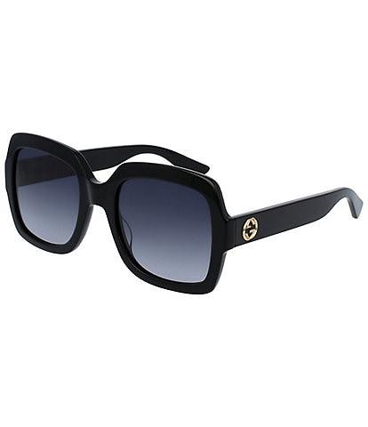 Gucci Oversized Square Black Frame Sunglasses