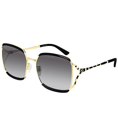 Gucci Oversized Acetate and Metal Square Sunglasses