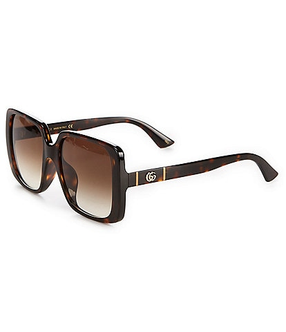 Gucci Women's 56mm Rectangular Sunglasses