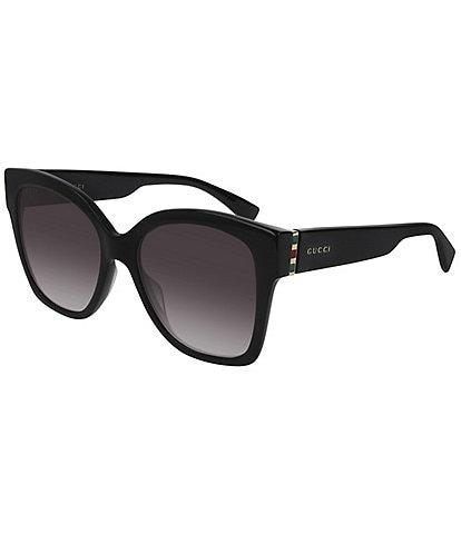 Gucci Tricolour Hinge Polished Square Sunglasses