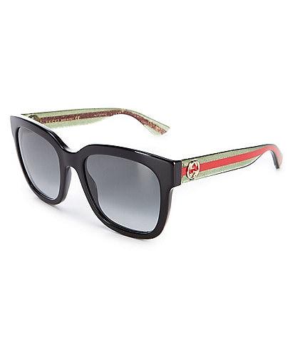 Gucci Women's Black Square 54mm Sunglasses