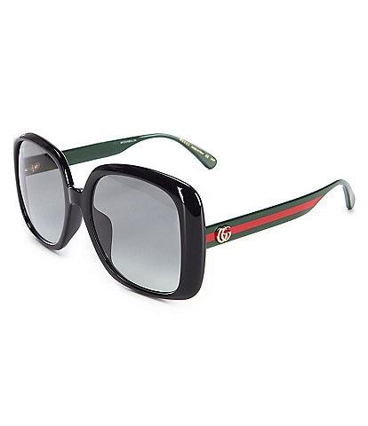 Gucci Women's Black Square 56mm Sunglasses