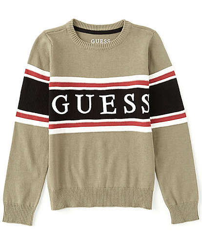Guess Big Boys 8-18 Long-Sleeve Embroidered Guess Logo Sweater