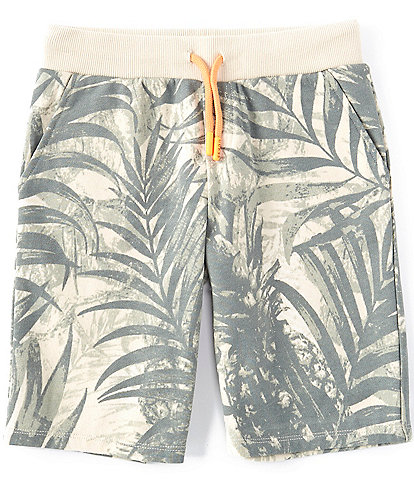 Guess Big Boys 8-18 Palm Printed French Terry Shorts