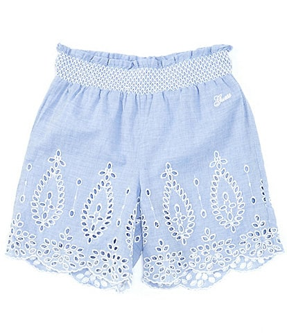 Guess Big Girls 7-16 Eyelet-Embroidered Shorts