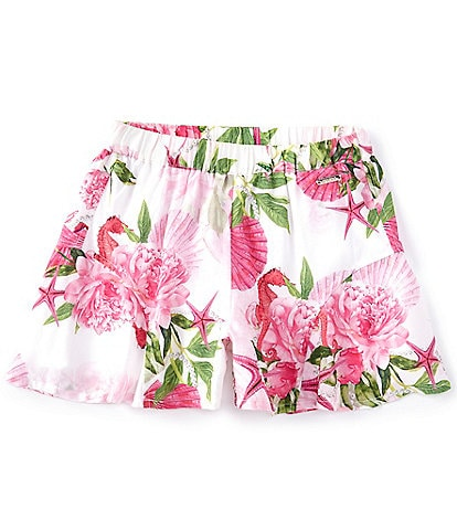 Guess Big Girls 7-16 Floral Flounce Shorts