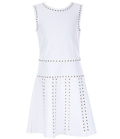 Guess Big Girls 8-16 Studded Fit-And-Flare Dress