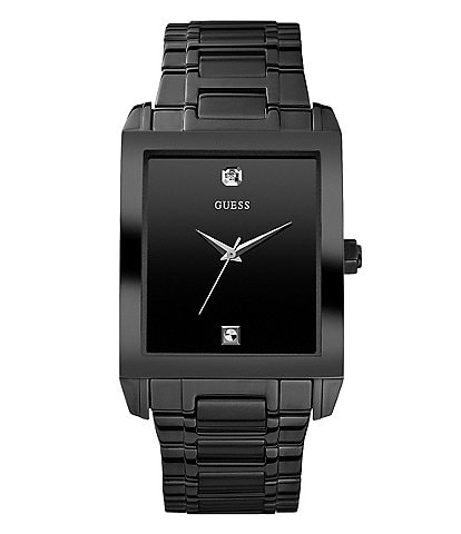 fb6bce68 Guess Black Men's Dress Watch