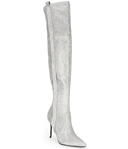 Guess Bonisa Rhinestone Embellished Over-the-Knee Boots