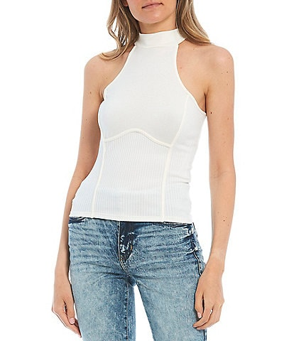 Guess Camryn Sleeveless Rib Knit Tank Top