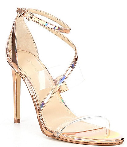 Guess Felecia Clear Banded Dress Sandals