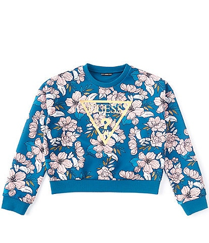 Guess Guess Active Big Girls 7-16 Foiled-Logo Floral Sweatshirt