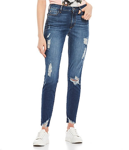 Guess High-Rise 1981 Destructed Ankle Skinny Jeans