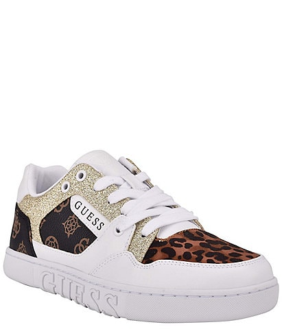 Guess Julien2 Printed Retro-Inspired Lace-Up Sneakers