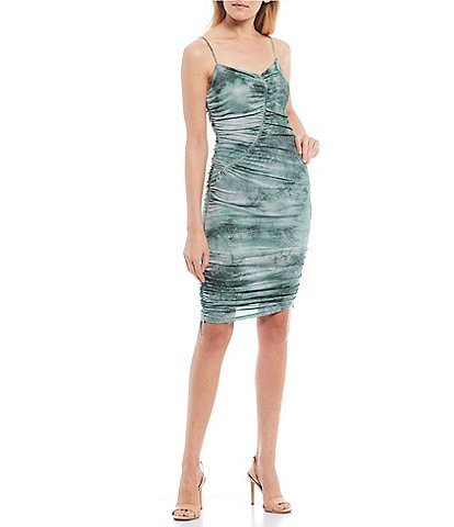 Guess Kira Glimmer Tie Dye Side Cinch Dress