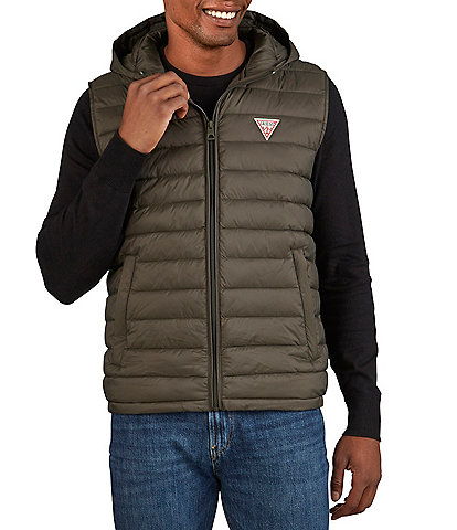 Guess Lightweight Puffer Hooded Vest