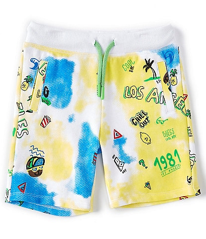 Guess Little Boys 2T-7 Beach Printed Logo Shorts