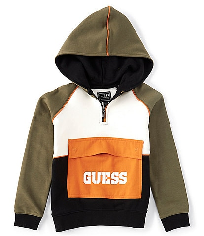 Guess Little Boys 2T-7 Long Sleeve Active Hoodie