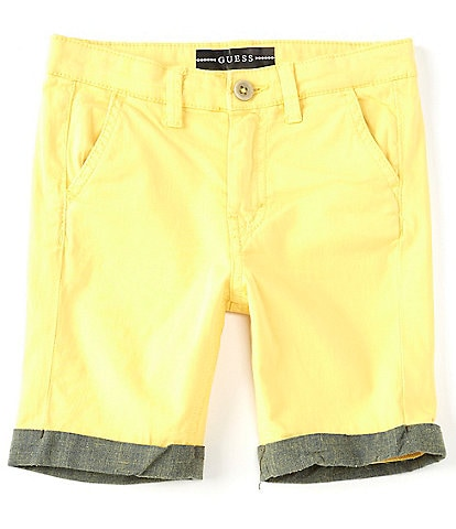Guess Little Boys 2T-7 Roll-Cuff Stretch Chino Shorts