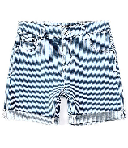 Guess Little Boys 2T-7 Yarn Died Stretch Denim Rolled Cuff Shorts