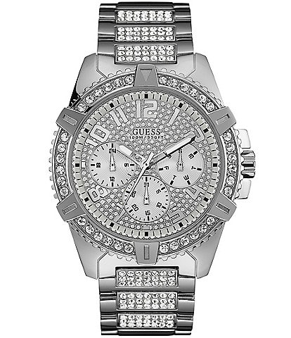 Guess Men's Crystal Embellished Multifunction Watch