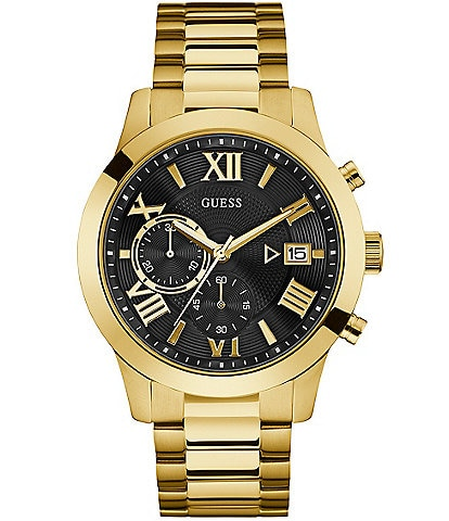 Guess Men's Gold-Tone Chronograph Watch