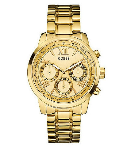 Guess Multifunction Gold-Tone Stainless Steel Watch