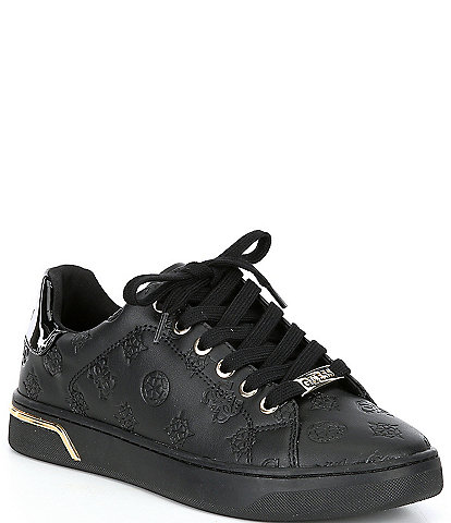Guess Rollin Logo-Embossed Lace-Up Sneakers
