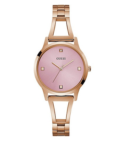 Guess Rose Gold Bangle Watch