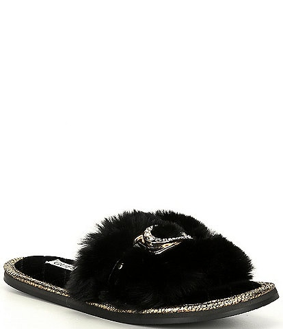 Guess Sannah Faux Fur Slides