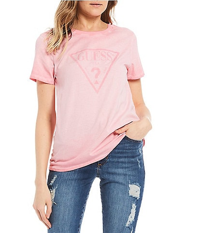 Guess Short-Sleeve Dye Resist Logo Graphic Tee