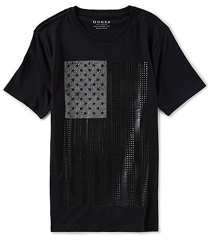 Guess Short-Sleeve Tonal Flag T-Shirt