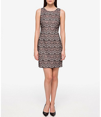 Guess Sleeveless Lace Sheath Dress