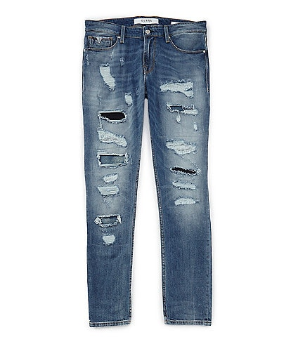 Guess Slim Taper Destroyed Jeans