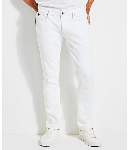 Guess Slim Tapered White Jeans