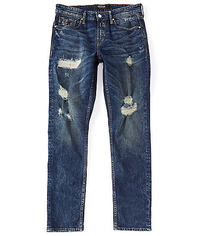 Guess Slim Tapered Premium Destroyed Jeans