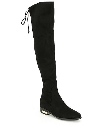 Guess Zafira Faux Suede Over-the-Knee Block Heel Boots