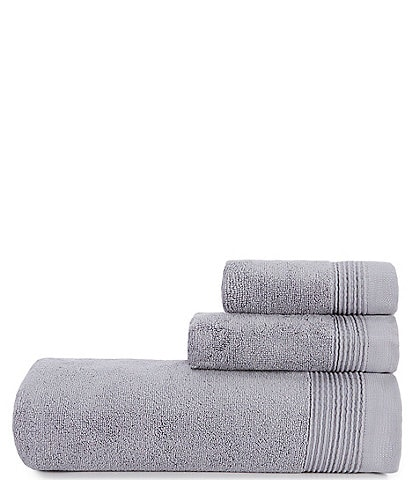 H Halston Ribbed Pinstripe Bath Towels