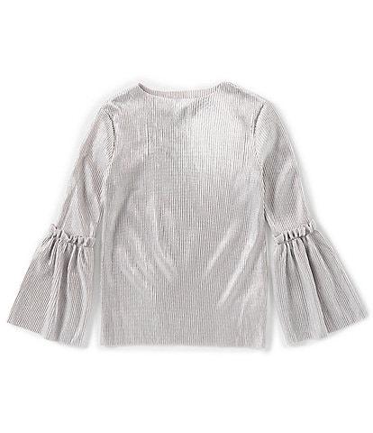 Habitual Big Girls 7-14 Bell-Sleeve Evelyn Metallic Knit Top