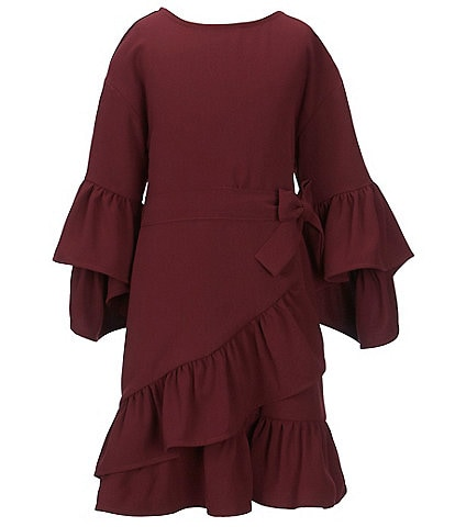 Habitual Big Girls 7-14 Erica Bell Sleeve Ruffle Hem Dress