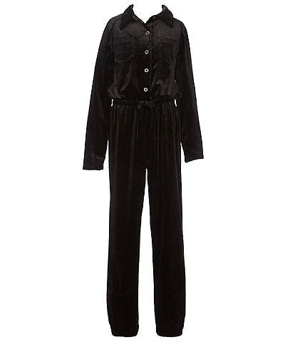Habitual Big Girls 7-14 Francis Button Front Jumpsuit